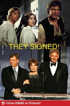 Ford, Hamil and Fisher signed for Star Wars VII YES!