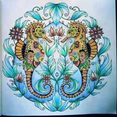 Ocean Adult Coloring Book Unique Johanna Basford Colouring Gallery Faber Castell Pencils Caran D Ache Pencils Adult Coloring Pages, Coloring Books, Johanna Basford Coloring Book, Polychromos, Color Pencil Art, Crazy Colour, Colorful Drawings, Zentangle, Creations