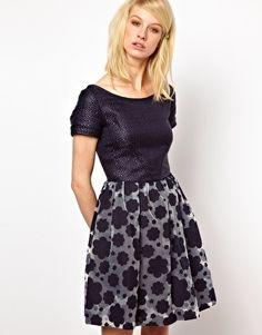 Orla Kiely Cloud Organza Dress with Raffia Top