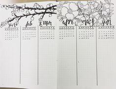 Seasonal Bullet journal future log