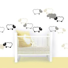Educational Nursery and Children Bedroom Decorating Ideas Educational Nursery and Children Bedroom using Counting Sheep wall stickers from Decosticks – Home Designs and Pictures