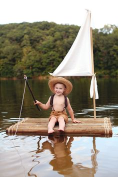 Huck Finn Styled Kids Photos - Jasmine White Photography