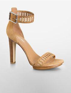 valinda high heel suede sandal