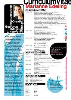 Mooi #creatief #cv van Marianne! En fantastisch dat ze een baan gevonden heeft.  #creatief #cv  www.vivier.nl
