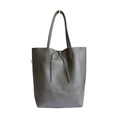 Tania Italian Dark Grey Leather Shopper Bag - £49.99 Leather Hobo Bags, Leather Shoulder Bag, Shoulder Bags, Grey Leather, Soft Leather, Shopper Bag, Tote Bag, Italian Leather, Dark Grey
