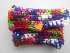 Crochet Coin Purse Money Holder Overdyed Handmade by SashaMCrafts