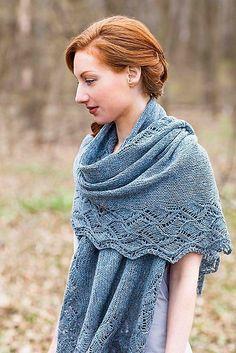 Sandycove by Kieran Foley (Fingering -Brooklyn Tweed Loft) Knit Or Crochet, Lace Knitting, Crochet Shawl, Knitting Patterns, Crochet Bikini, Filet Crochet, Knitting Stitches, Knit Cowl, Knitted Shawls