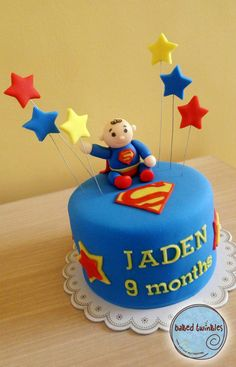 baby superman cake