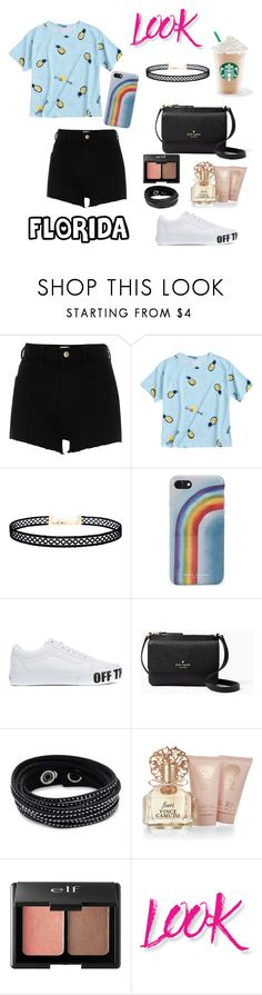 """""""Untitled #129"""" by floridanuha ❤ liked on Polyvore featuring River Island, LULUS, Marc Jacobs, Vans, Kate Spade, Swarovski, Vince Camuto, Charlotte Russe and NYX"""