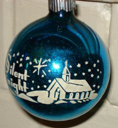 Vintage 'Silent Night' ornament /  My parents had this same ornament when I was like  6 years old...ill be 61 soon....wow