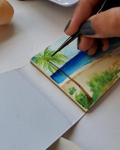 Watercolor Paintings For Beginners, Watercolor Art Lessons, Flower Drawing Tutorials, Mini Canvas Art, Art Drawings Sketches Simple, Art Graphique, Watercolor Illustration, Artist Painting, Arts