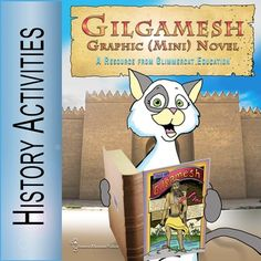 A supplemental activity and project for those who are studying the epic of Gilgamesh along with early Mesopotamia.  An excellent add-on for the classical homeschooling model and for middle school.  This mini graphic novel includes three illustrated pages (these are original artwork which has not been made available as clip art images) that tell the Epic of Gilgamesh in a distilled version appropriate for children from 2nd grade and up.