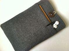 7 Tablet Case, Custom for Any Nook, Kindle, eReader or Tablet. Unisex for Men - Herringbone. $29.99, via Etsy.
