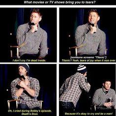hahahaha <3  Jensen's face in the last one.