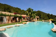 Mediterranean sea view villa near Es Cubells, Ibiza. Luxury Property For Sale, Classic Interior, Property Search, Mediterranean Sea, French Riviera, Pool Houses, Investment Property, Maine House, Tuscany