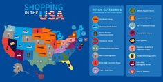 Infographic Shows #Retail #Trends, Density by Location