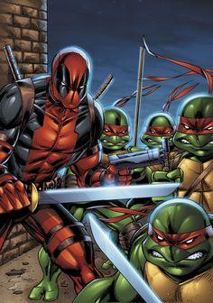 #Deadpool #Fan #Art. (Deadpool and TMNT Lines) Rob Liefeld &  Colors) By: Sean Forney. ÅWESOMENESS!!!™[THANK U 4 PINNING!!!<·><]<©>ÅÅÅ+(OB4E)