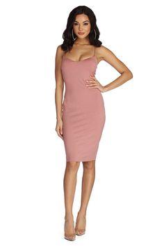 Mauve Simple And Sleek Midi Dress Windsor Store 66561f3fd