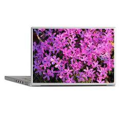 Pretty Purple Flowers Laptop Skins