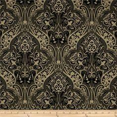 fabric.com has Downton Abbey fabrics!  Downton Abbey Dowager Countess Large Medallions Black