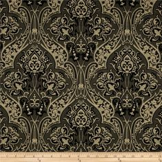 fabric.com has Downton Abbey fabrics!  Downton Abbey Dowager Countess Large Medallions Black