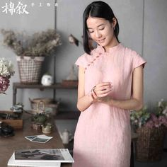 棉叙第4667页《修结》夏装新品棉麻短袖衬衫中式复古女亚麻衬衣-tmall.com天猫