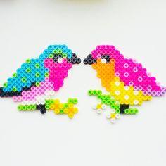 Birds hama beads by iamblondelily
