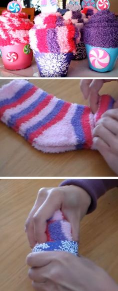 Sock Cupcakes   Last Minute DIY Christmas Gifts for Kids   Easy to Make Christmas Gifts
