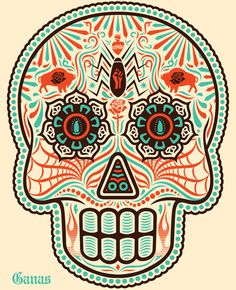 Day of The Dead Original Colorful