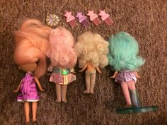 Set Of Hasbro Moon Dreamers Dolls 1980s With Accessories | eBay