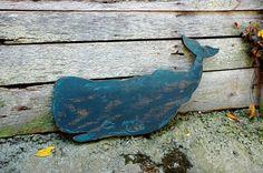 Sperm Whale Handmade Wood Sign