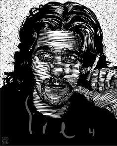 Glenn Frey Daddy Go, Glenn Frey, Darth Vader, Rock, Illustration, Fictional Characters, Stone, Illustrations, Rock Music