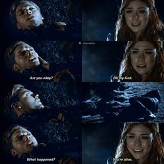 """442 To se mi líbí, 10 komentářů – shadowhunters (@clacetales) na Instagramu: """"2.20 SWIPE — Man, all those book quote feels. """"are you okay?"""" is the first thing he asks Clary…"""""""