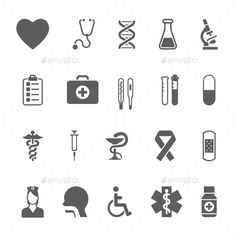 Set of Medical Icons (Vector EPS, CS, aid, ambulance, blood, capsule, care, clinic, cross, design, drug, emergency, health, heart, hospital, icon, illustration, laboratory, medication, medicine, nurse, pharmacy, pill, pulse, science, set, sign, symbol, syringe, thermometer, vector, vitamin)