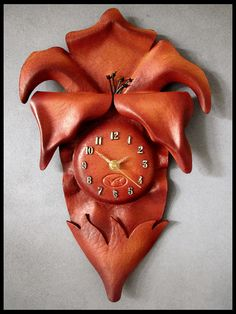 Handmade Leather Wall Clock RRP AUD 112.00 Unique by VRHomeDecor, #Valentines Day