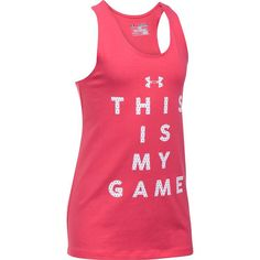 "Girls 7-16 Under Armour ""This Is My Game"" Tank Top, Girl's, Size: Medium, Pink Other"