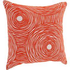 Better Homes and Gardens Chenille Swirls Decorative Pillow, Tangerine