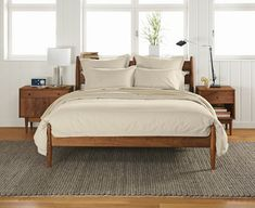 Clean lines of these mid-century modern pieces allow it to mix seamlessly with craftsman, shaker...