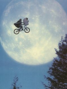 Et Flying Bicycle Portrait Photo