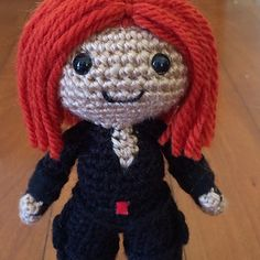 Agent Romanoff is here! This is the pattern for the Black Widow amigurumi doll pictured. Included is a pdf for the doll (7 pages) and a pdf of all the stitches used as a beginners reference.