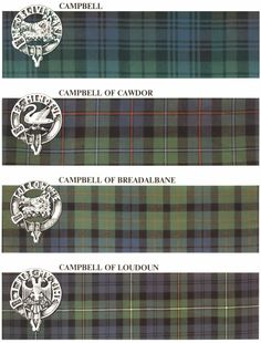 campbell tartans | tartan originally represented a clan. Today, tartans exist that ...