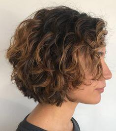 Short Textured Curly Bob