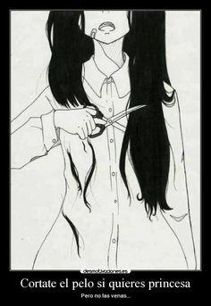 carteles cortate pelo quieres princesa pero las vena desmotivaciones