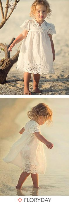 39bfc3d2e309 Girls' solid daily short sleeve dresses, cute, lovely, girls. Cute Girl