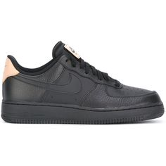 Nike Air Force 1 High Top '07 LV8 sneakers ($145) ❤ liked on Polyvore featuring men's fashion, men's shoes, men's sneakers, black, mens high top sneakers, mens leather sneakers, mens black shoes, mens lace up shoes and mens black leather shoes