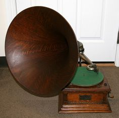 Antique Oak Victorian Phonograph-Extremely Rare -