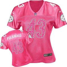 4e3a8facd8c Women's Nike Pittsburgh Steelers #43 Troy Polamalu Limited Pink Sweetheart  Jersey$69.99 Red Reebok,