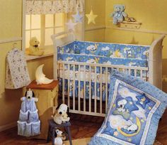 By Lambs & Ivy. x Coordinates with several Baby Snoopy Patterns. My Little Snoopy, Baby Snoopy, Sleepytime Snoopy, Starlight Snoopy. Crib Bedding Boy, Baby Boy Cribs, Baby Bedding Sets, Baby Boy Nurseries, Baby Boy Newborn, Baby Boy Room Decor, Baby Bedroom, Baby Boy Rooms, Kids Rooms