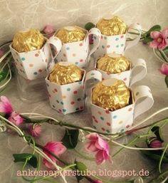Ankes Papierstube: Mini -Tassen / Goodies Mehr