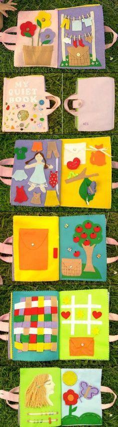 Oi gente linda!   O Dia das crianças está chegando e que tal presentear os pequenos com um presente feito a mão?   Achei lindo esses livros...